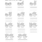 Counting fingers worksheets
