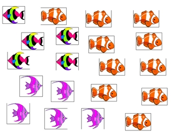 Counting fish math center 1-20