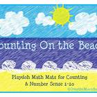 Counting on the Beach Play-doh Math Mats -Common Core