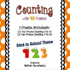 Counting with Ten Frames Freebie (Back to School Theme)