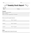Country Book Report with Project Grid