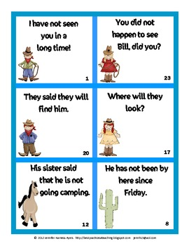 Country Contractions Quiz Cards  Set 3