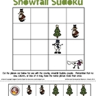 """Country Snowfall"" Snowman Primary Sudoku"