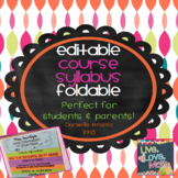 Course Syllabus Foldable