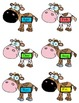 Cow Pair UP!  Abbreviation Matching File Folder Game
