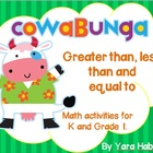 Cow-a-bunga - Greater than, less than, equal to. K - Grade 1.