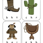Cowboy Beginning Sounds Reading Center