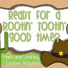 Cowboy Literacy and Math Stations {7 literacy, 4 math}