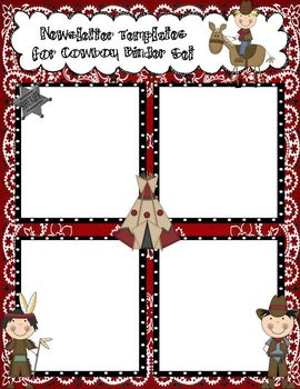 Cowboy Newsletter Templates to Accompany Cowboy Binder Set