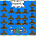 Cowboy Rodeo Attendance Interactive Flipchart for Promethe