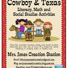 Cowboy &amp; Texas Literacy, Math and S.S. Activities