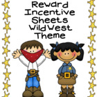 Cowboy Theme Incentive Sticker Chart