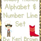 Cowboy Themed Alphabet and Number Line