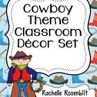 Cowboy Western Theme Classroom Decor Set