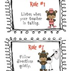 Cowboy/Wild West Classroom Rules