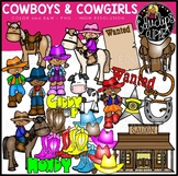Cowboys and Cowgirls Clip Art Bundle