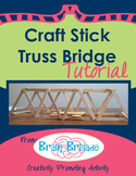 Craft Stick Truss Bridge Tutorial - Creativity Activity |