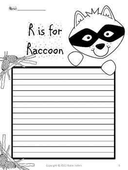 Craftivity: Raccoon Writing Prompt