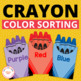 Crayon Color Sort:  Preschool and Early Childhood Activities