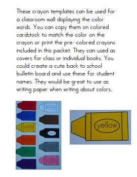 Crayon Templates for Displays, Games, and More
