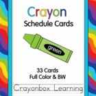 Crayon Theme Schedule Cards