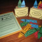 Crayon Word Sort Literacy Centers-Vowel Sounds