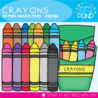 Crayons - Clipart for Commercial and Classroom Use