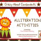 Crazy About Consonants: Alliteration Activities (Common Core)