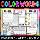 Crazy Color Words Workbook