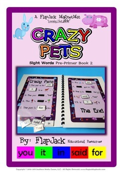 Crazy Pets Sight Word MagnetMat Fun