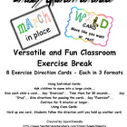 Crazy Quick-ercise - Exercise Cards to Use in the Classroom