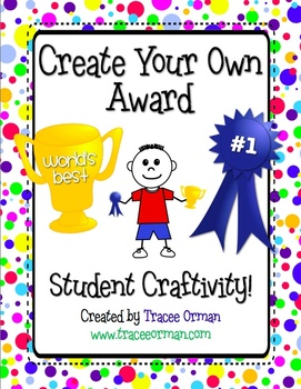 Create An Award Classroom Craftivity