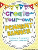 Create Your Own Pennant Banner {Editable}