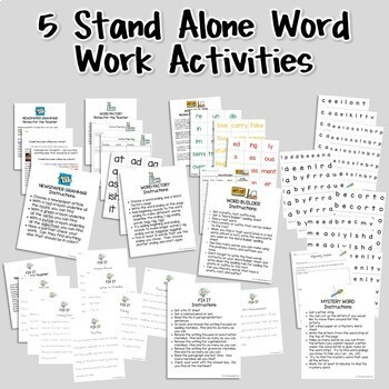 Create a Word Work Center -- 125 pgs. ready-to-use material