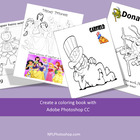 Create a coloring book with Adobe Photoshop CS2, CS3, CS4, or CS5
