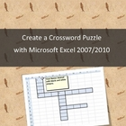 Create a crossword puzzle with Microsoft Excel 2007 or 2010