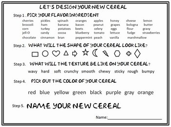 Create and Design Your Own Cereal
