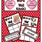 Create your Own Valentine Word Wall BINGO