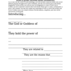 Create your own Greek God/ Goddess Worksheet Activity
