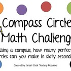 Creating Compass Circles Math Challenge Project