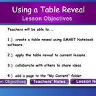 Creating a Table Reveal in SMART Notebook 10 and 11