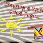 Creating a Works Cited Page in Research Paper: PPT Lesson and PDF