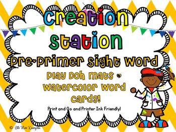 Creation Station Pre Primer Sight Word Play Doh Mats And W