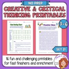 Creative &amp; Critical Thinking Skills #2 16 More Fun Worksheets!