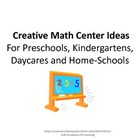 Creative Math Center Ideas (Please rate after you have dow