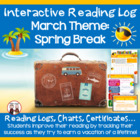 Creative Monthly Elementary Reading Log for March Read Aro