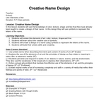 Creative Name Design Lesson