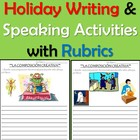 Creative Spanish Holiday Writing &amp; Speaking Activities wit