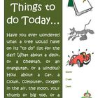 "Creative Writing Activity ""Things to do Today"" Common Core"