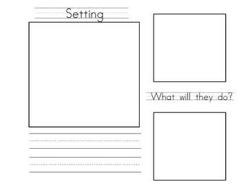 Creative Writing Activity With Planning Pages and Student